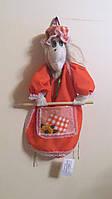 """Іграшка текстильна тримач сувенірний для кухонних рушничків """"Баба Яга"""""""