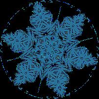 Вафельные картинки Снежинки