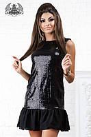 Шифоновое платье с паетками