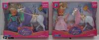 """Кукла 3328 4,5"""" с лошадью-единорогом флок. 4,75"""", 3 в., кор., ш.к. /96/"""