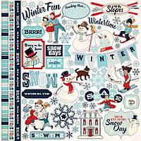 Наклейки - Carta Bella - Snow Fun - 30х30