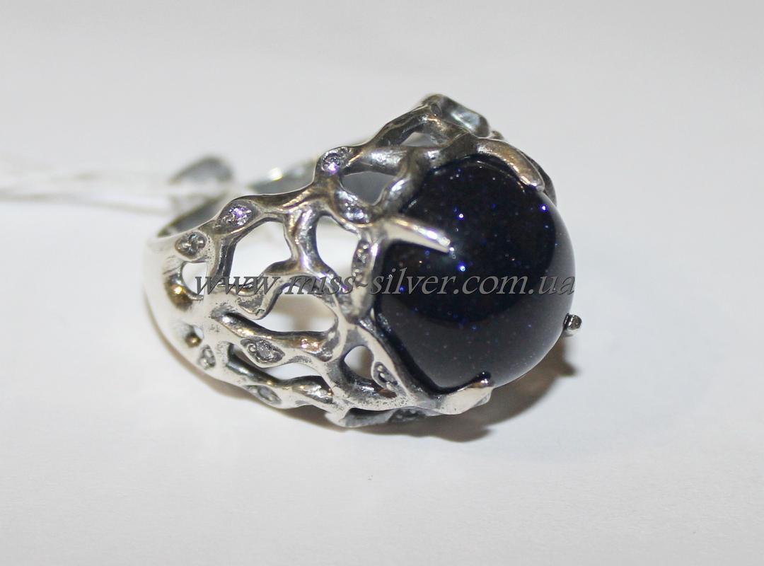 Кольцо с авантюрином серебро Wood secret