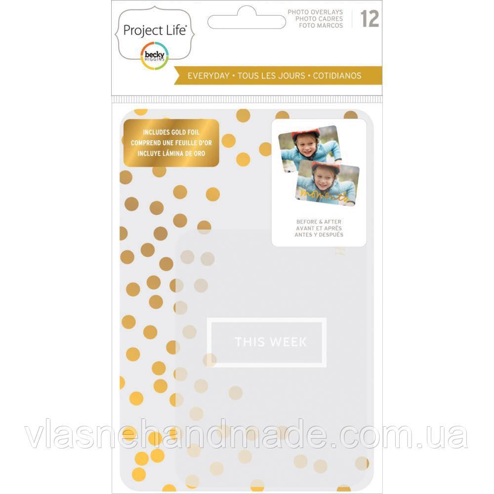 Оверлей для фото - Project life - Everyday Edition - W/Gold Foil