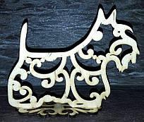 Декор НГ Собачка ажур на подставке 1