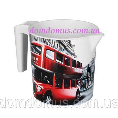 """Кружка мірна пластикова з декором """"London"""" Elif Plastik, Туреччина"""