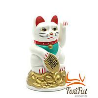 Кішка Манеки Неко 11 см біла