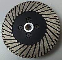 Алмазный круг диск на фланце для резки и шлифовки гранита NERO MULTY Turbo 125x2,8x8x22,23/M14F
