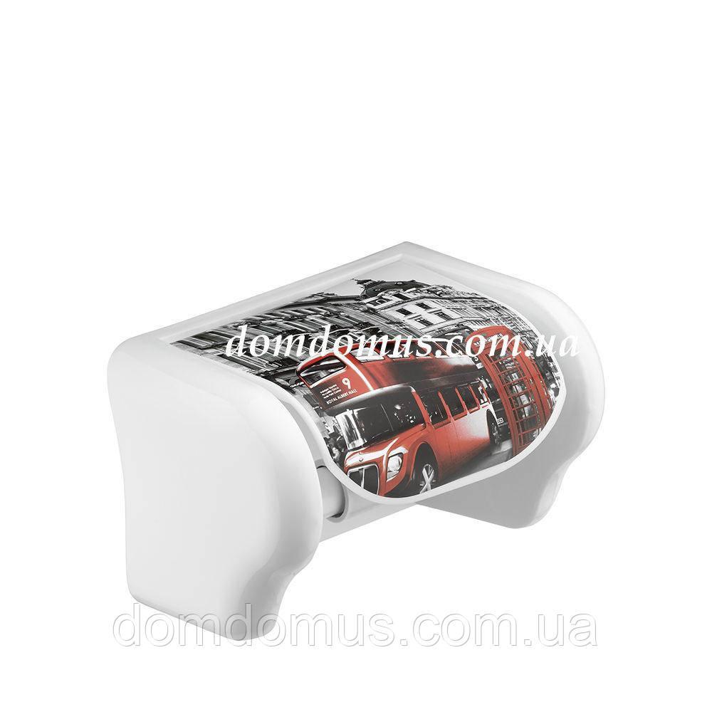 """Держатель для туалетной бумаги декором """"London""""  Elif Plastik, Турция"""