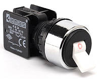 Кнопка-тумблер 22мм 0-1 (1НЗ) КВ12С
