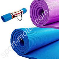 Коврик для фитнеса и йоги NBR 183 х 80 х 10мм