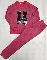 Модный прогулочный костюм для девочки Эрика р.116-128 малиновый
