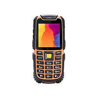 Противоударный кнопочный телефон на 2 сим карты Nomi i242 X-Treme оранжевый