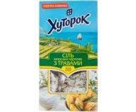 Соль Хуторок морская пищевая с травами, 200 г