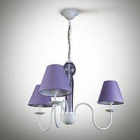 Люстра 3-х ламповая , металлическая с абажурами для спальни, детской 17103-5