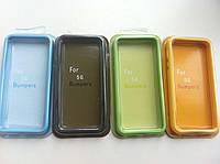Силиконовые бампера для iphone 5/5S разные цвета, фото 1