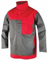 Куртка для сварщика METTHEW 01 красно-серая p.46-64