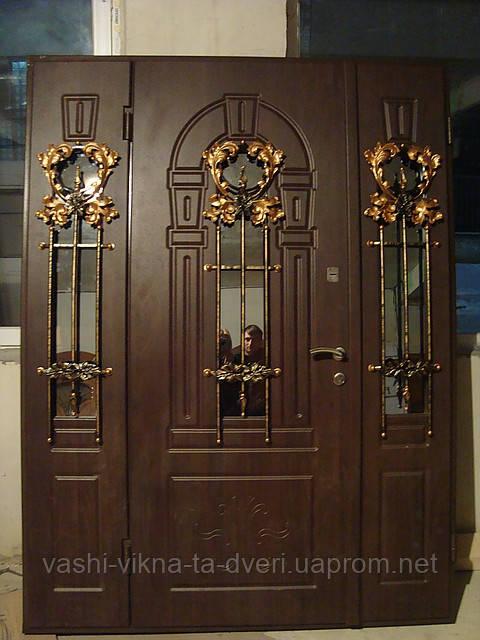Двері вхідні з склопакетом та ковкою елітні  - Вікна Двері для оселі в Львове