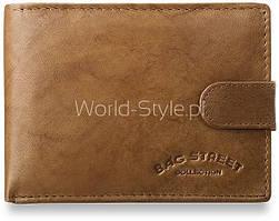 04-22 Коричневый мужской бумажник Mojra