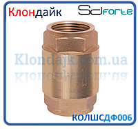 Клапан обратный с латунным штоком SD Forte 2