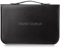12-07 Черный элегантный портфель мужской органайзер для документов Ihinca