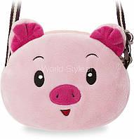11-27 Розовая мягкая модная сумочка детская серия зоопарк Shamsekamal