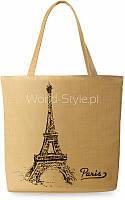 12-11 Бежевая женская эко-сумка для покупок shopper bag с принтом Dzhaneta