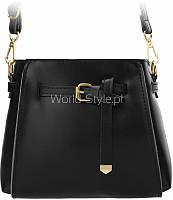 11-27 Черная малая женская ретро-сумка мешочек нарядная пряжка ремень 5902734918116