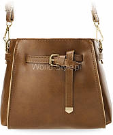 11-27 Коричневая малая женская ретро-сумка мешочек нарядная пряжка ремень 5902734918109