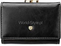 11-12 Черный кожаный женский оригинальный кошелек петерсон bigiel 5902734919601