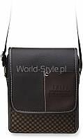 03-19 Черно-коричневая стильная мужская сумка на плечо 5902734920102