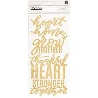 Наклейки-фрази зі щільного картону , з глітером - Jen Hadfield - Heart Of Home - 2Pkg