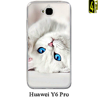 Чехол для Huawei Y6 Pro, бампер, F026, котёнок