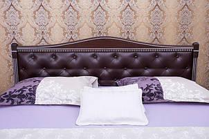 Кровать Прованс от ТМ Олимп кожзам с ромбами + патина 160х200, фото 2