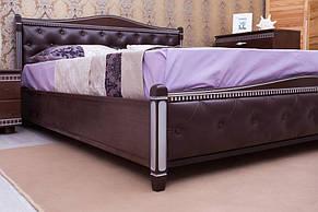 Кровать Прованс от ТМ Олимп кожзам с ромбами + патина 120х190, фото 2