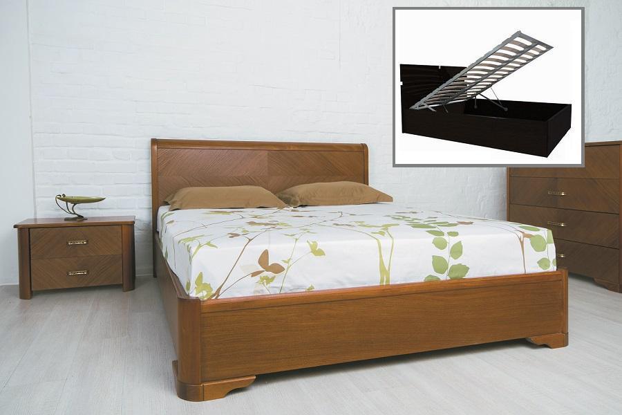 """Ліжко двоспальне Олімп """"Мілена з підйомним механізмом"""" (200*200)"""