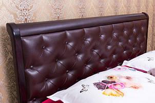 """Кровать полуторная Олимп """"Милена мягкая спинка ромбы+мизмом"""" 120*200, фото 2"""
