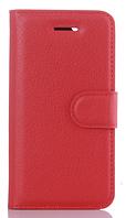 Кожаный чехол-книжка для Asus Zenfone Max ZC550KL красный