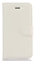 Кожаный чехол-книжка для Asus Zenfone Max ZC550KL белый