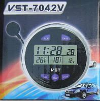 Автомобильные часы, термометр, вольтметр VST-7042V-TDN