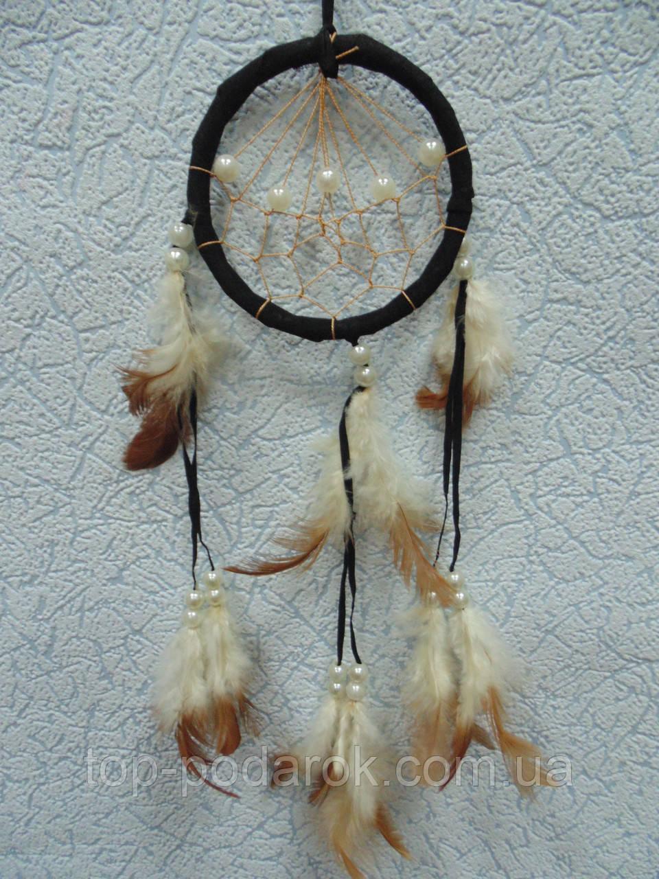"""Ловец снов """"Круг с жемчугом"""" длина 40 см"""