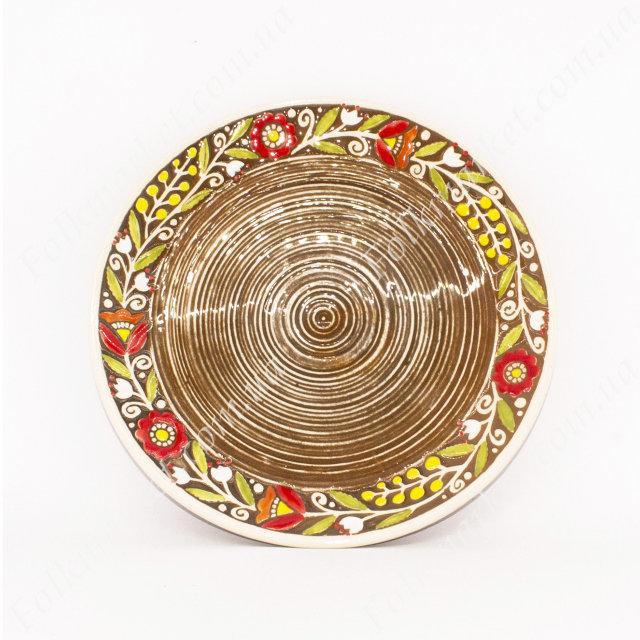 Керамическое блюдо с орнаментом 21 см