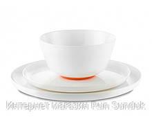 Глубокая не скользящая тарелка из тритана Palm Sorona, оранжевая 15 см