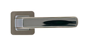 Дверная ручка на квадратной розетке Trion ЦАМ PEGASO SN\CP Квадрат