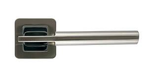 Дверная ручка на квадратной розетке Trion ЦАМ ORION SN\CP R-40 Квадрат