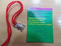 Амулет Денежная лягушка с красной нитью браслет