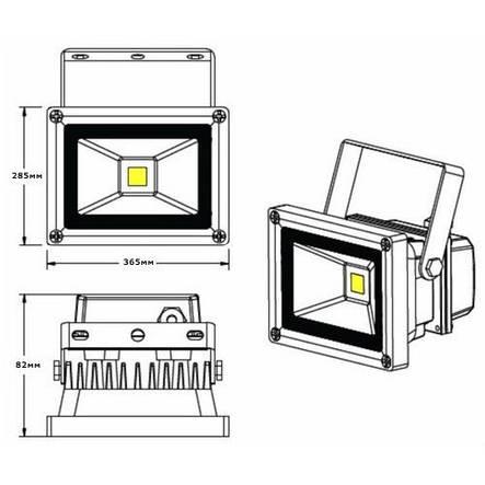 LED прожектор LEDSTAR 100W-6500lm-6500К-IP65, фото 2