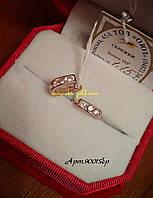 Золотые серьги 585 пробы дорожка , арт.90015бр.