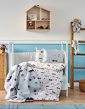 Детский набор в кроватку для младенцев Karaca Home My Car голубой (10 предметов)