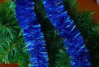 Дождик (мишура) новогодний двойная набивка, d-7 см (длина 2 м)