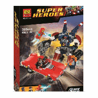"""Конструктор Bela 10674 (аналог Lego Super Heroes 76077) """"«Стальной Детройт наносит удар"""" 395 дет"""
